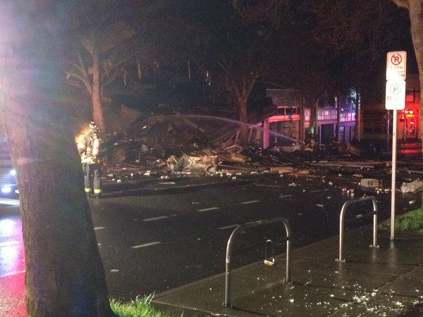Seattle explosion levels buildings and injures firefighters