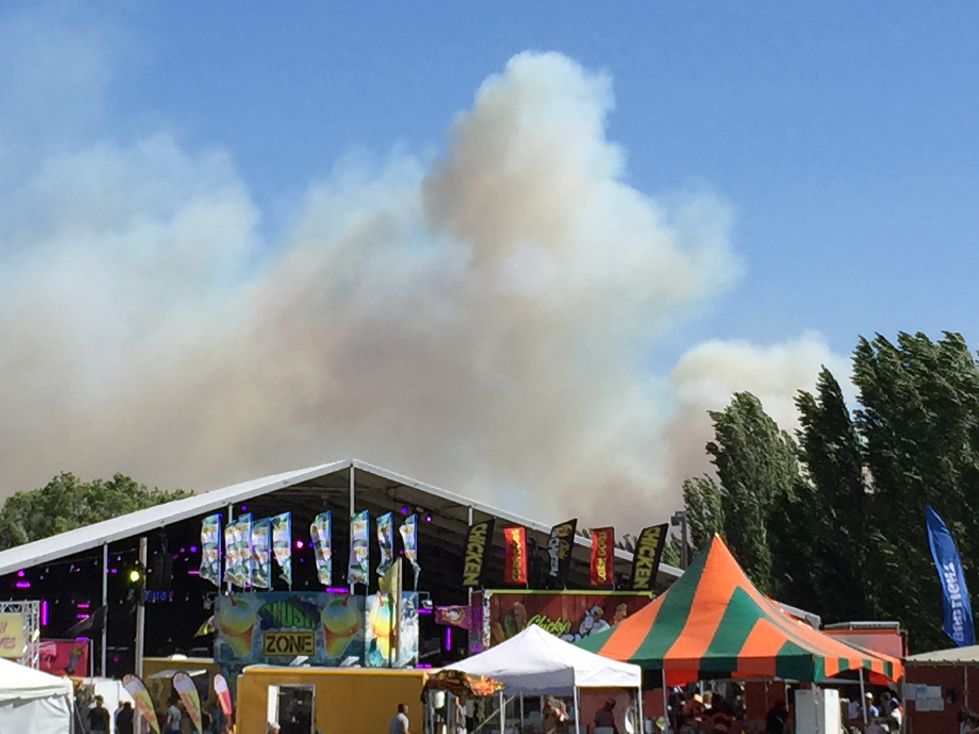 Evacuations lifted for wildfire near The Gorge