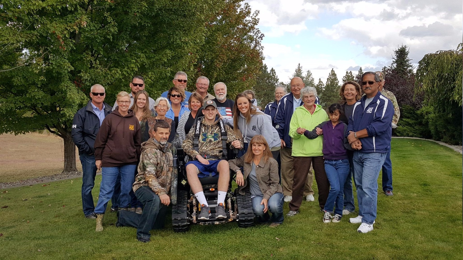 Krem Com Paralyzed Teen Given New Wheelchair For Hunting
