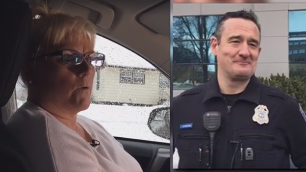 Officer discusses saving woman from burning car
