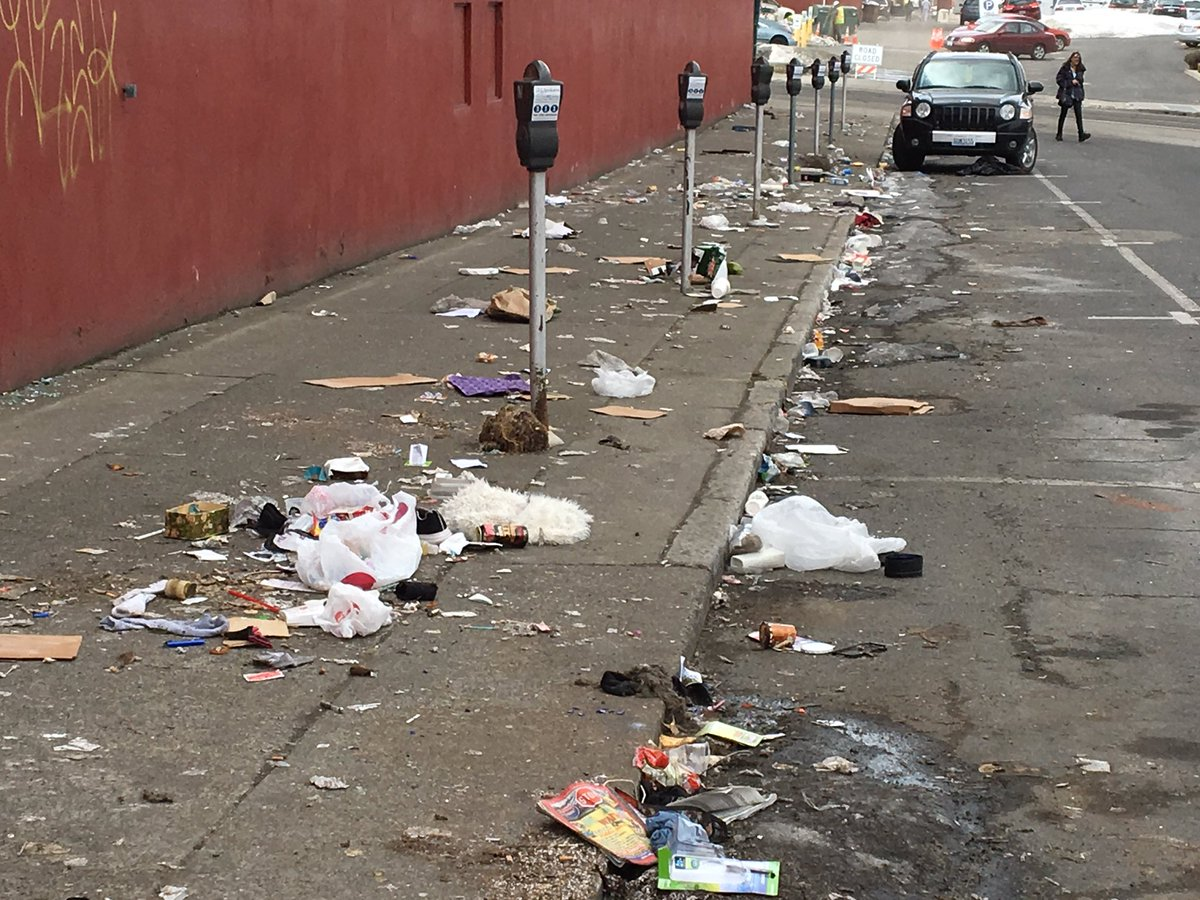 City crews clean up garbage filled Downtown street | KREM.com