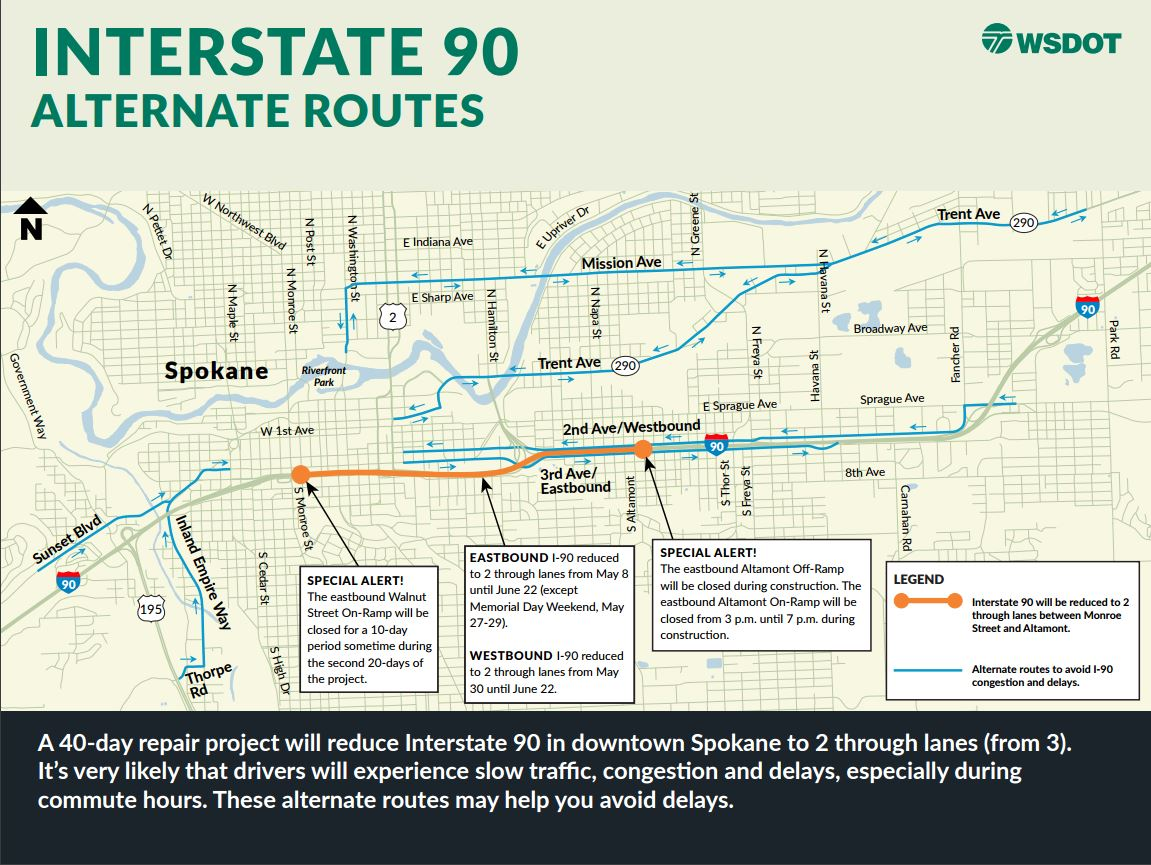 I-90 construction begins Monday; will last until end of ...