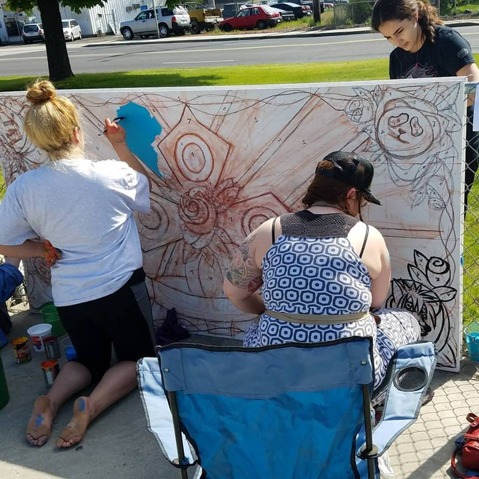 Shaw MS Students Paint Murals At Harmon Skate Park